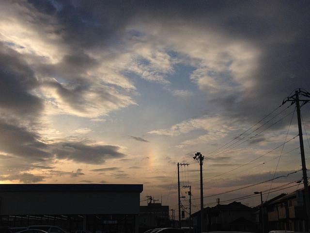 彩雲を見ました